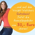 Weight Watchers Gutschein Anmeldegebühr sparen