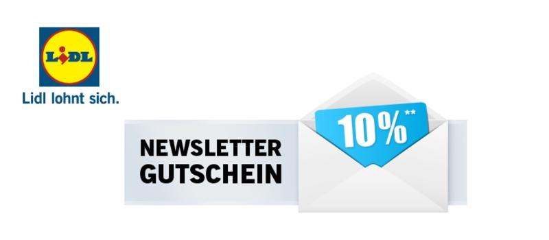 Lidl Newsletter Gutschein Neukunden 10 Prozent Rabatt