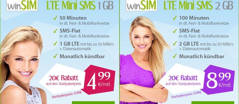 günstiger Smartphone-Tarif unter 5 Euro im Monat 1GB Datenvolumen