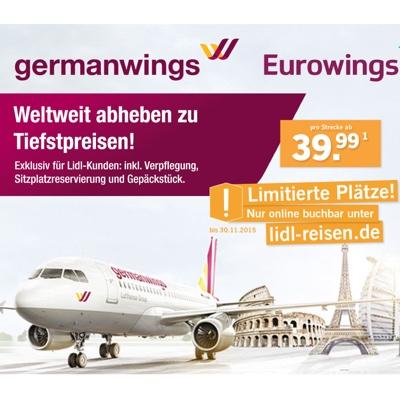 Germanwings Flüge günstiger buchen