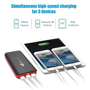 externe Powerbank stark und 3 USB Anschlüsse