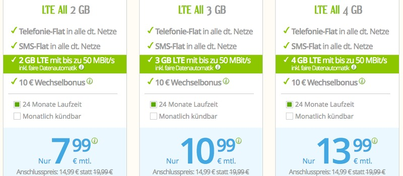 winSIM günstige Smartphone Tarife Flat surfen