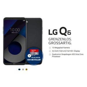 LG Q& Handyvertrag unter 10 Euro mit Handy