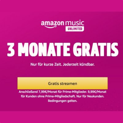 Amazon Music gratis testen
